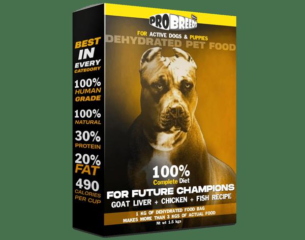 pro breeds complete diet goat liver + chicken + fish recipe
