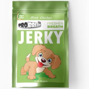 Pro Breeds mint + chicken high protein jerky
